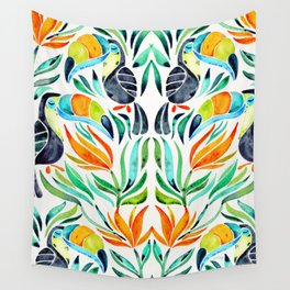 Tropical Toucans Wall Tapestry