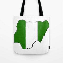 Nigeria Map with Nigerian Flag Tote Bag