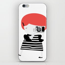The ginger photographer iPhone Skin