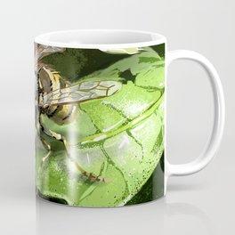 Wasp on flower16 Coffee Mug