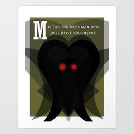 M is for Mothman Art Print