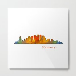 Phoenix Arizona, City Skyline Cityscape Hq v1 Metal Print