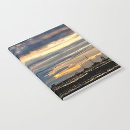 Tropical Sunset in Blues & Oranges Notebook