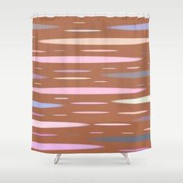 Modern Geometric Abstract Shower Curtain