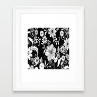 floral pattern Framed Art Prints featuring Floral pattern by Laake-Photos