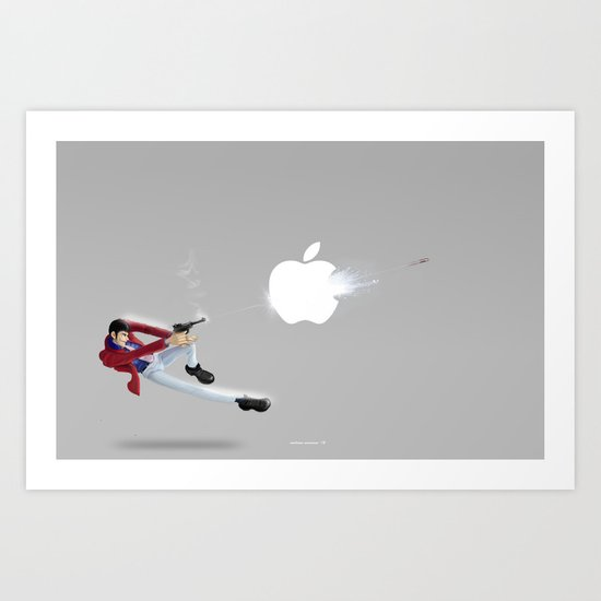 You can't steal everything!.....Lupin Art Print