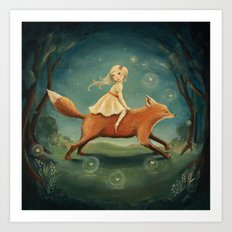Fox Girl by Emily Winfield Martin Art Print
