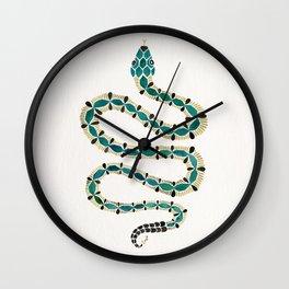 Emerald & Gold Serpent Wall Clock