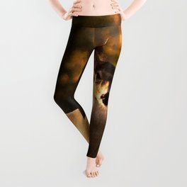 Geometric Deer Leggings