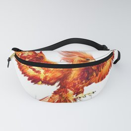 Rising Phoenix Fire Fenix Inspirational Mythical Bird Rise from ashes Rebirth Symbol Fanny Pack
