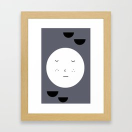 Sleepy Moon Framed Art Print