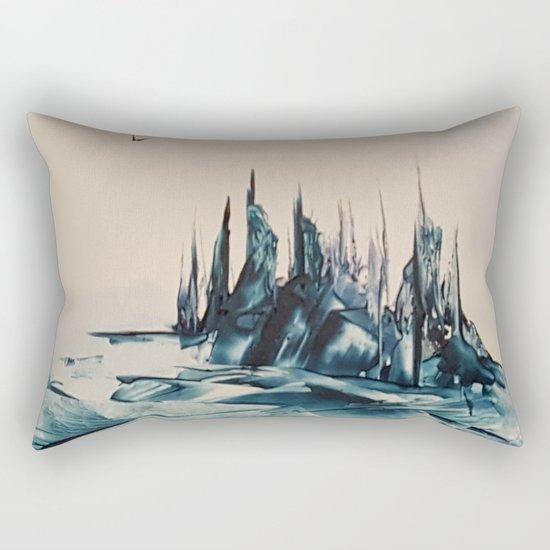Green Alienscape Rectangular Pillow