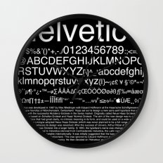 Helvetica (White) Wall Clock