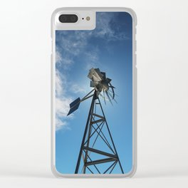 Spinning Blades Clear iPhone Case