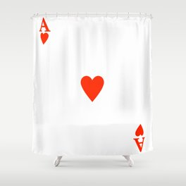 Ace of hearts Costume Halloween Deck of Cards - playing card Shower Curtain