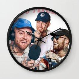 Mac Miller Rap Static Mixer Art Print 4 Wall Clock