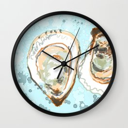 New York Oysters Wall Clock