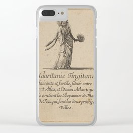 Game of Geography - Tangerine Mauritania, or the Maghreb, or Morocco (Stefano della Bella, 1644) Clear iPhone Case