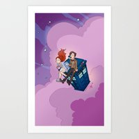 dodgers Art Prints featuring Jammie Dodgers Doctor Who by Aimee Steinberger