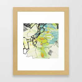 Circumstantial Oxidation in Turquoise Framed Art Print