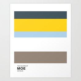 The Colors of - MOE SZYSLAK - Simpsons Art Print