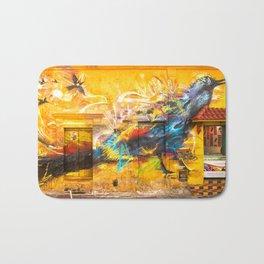 Street Art Bird Bath Mat