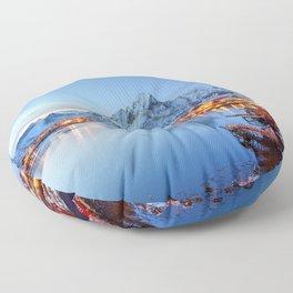 Lofoten islands, Norway Floor Pillow
