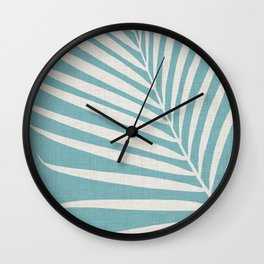 Vintage Palm Frond Wall Clock