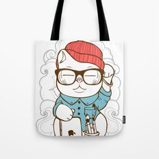 Hipster Kitty Tote Bag