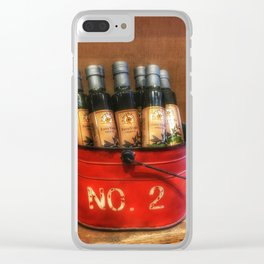 Extra Virgin Olive Oil Clear iPhone Case
