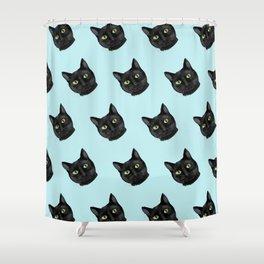 Black Cat Appreciation Day Shower Curtain