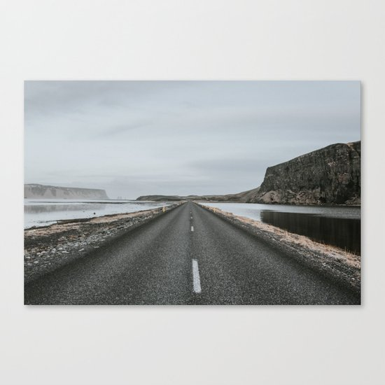 Empty Road - A Love Story Canvas Print
