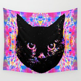 Glitch Streak Quad Cat Wall Tapestry