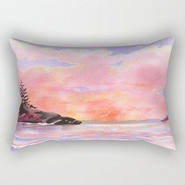 Pink Sky Rectangular Pillow