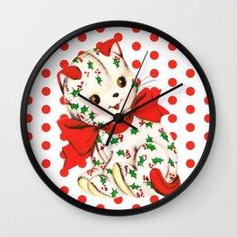 """Christmas Kitten"" Wall Clock"