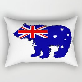 Australian Flag - Bear Cub Rectangular Pillow