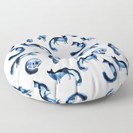 A pack of silver foxes. Floor Pillow