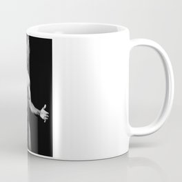Naked man with great body in bdsm look holding a whip Coffee Mug