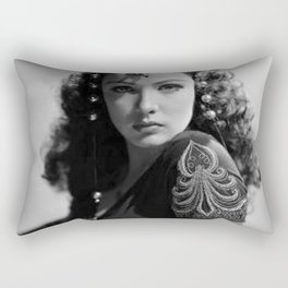 Gene Tierney, Hollywood Starlet black and white photograph / black and white photography Rectangular Pillow