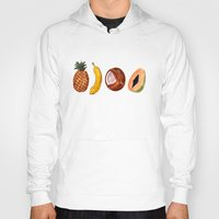 fruits Hoodies featuring Exotic Fruits by Michal Gorelick