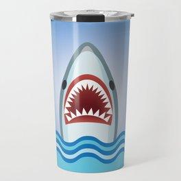 Cartoon Shark Travel Mug