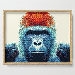 Gorilla -  Colorful Animals Serving Tray