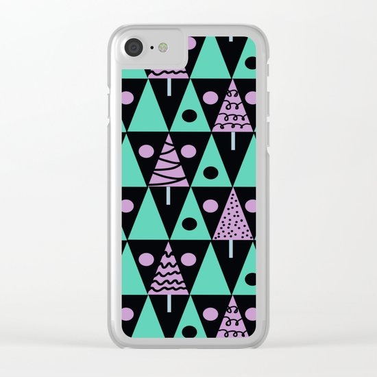 Christmas pattern . Clear iPhone Case
