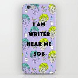 I am Writer, Hear Me Sob (Dawson Crying) iPhone Skin