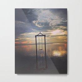 Swing/Sun SeT Metal Print
