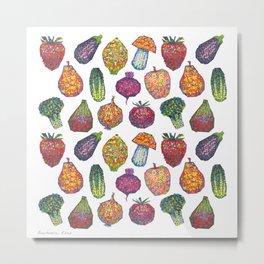 Vitamins - white Metal Print