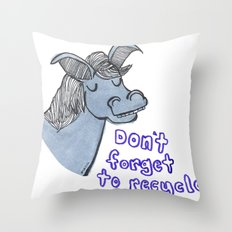 Don't Forget to Recycle Throw Pillow