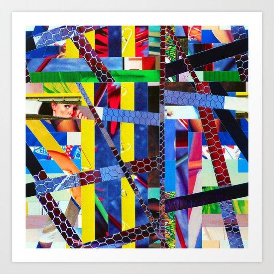 Bruce (stripes 13) Art Print