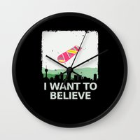 i want to believe Wall Clocks featuring I want to believe by kat stark