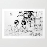 Restless Young Girl Art Print